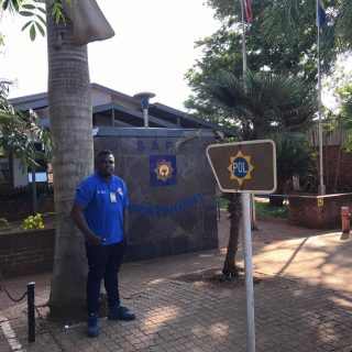 IRS investigator Enock Masingi at Komatipoort SAPS early in the morning at the s… 48269421 2231608776870517 1511642584827559936 o 320x320