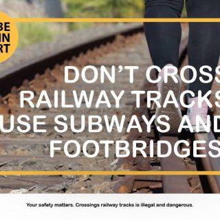 #BeTrainSmart Make use of subways and footbridges. 48418427 2896068367085397 4780831816342831104 o 320x320