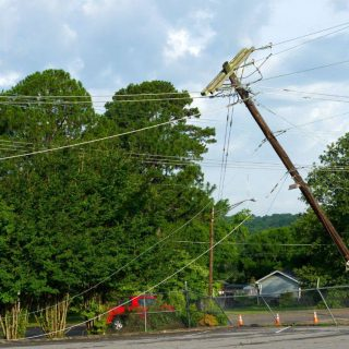 Overhead power cables are normally suspended out of reach of people but when the… 48425704 2579290632097665 5524536112661397504 o 320x320