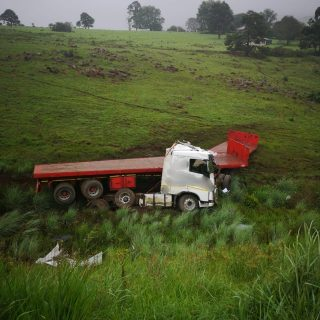 KwaZulu-Natal: An adult male truck driver has escaped injury after losing contro… 48976790 2104902179530907 9072836508326559744 o 320x320