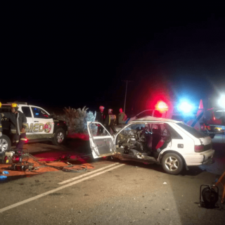 [BAINSVLEI] – Two killed, five injured in two-vehicle collision. – ER24 BAINSVLEI     Two killed five injured in two vehicle collision