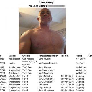 Krugersdorpers warn against local fraudster – Krugersdorp News Jaco le Roux Crim 1 NEW NEW Medium 1 320x320