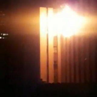 Man jumps from burning Joburg CBD building Man jumps from burning Joburg CBD building