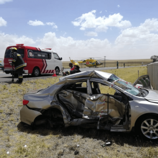 [THABA NCHU] – One killed, two injured in two-vehicle collision. – ER24 THABA NCHU     One killed two injured in two vehicle collision