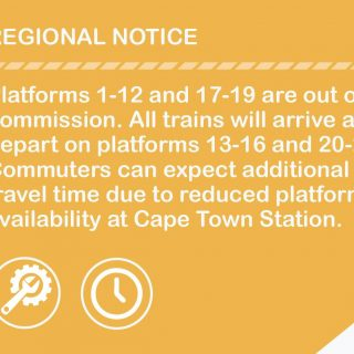 Commissioning Works at Cape Town Station has commenced. Platform changes apply … 50574086 2980188025340097 2325754134000566272 o 320x320
