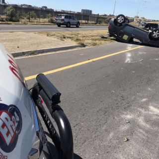 [CENTURY CITY] – Vehicle rollover leaves four injured. – ER24 CENTURY CITY     Vehicle rollover leaves four injured