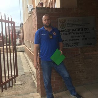 Early start at Germiston Magistrates Court. 52977604 2334407189924008 7207292105822044160 o 320x320
