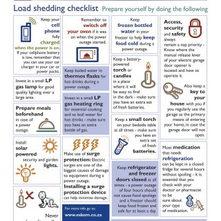 Our #loadshedding checklist helps you prepare should you be impacted by loadshed… 52861903 2689642717729122 2223729273238192128 o 320x320