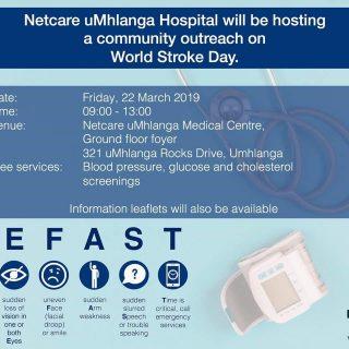 Netcare uMhlanga Hospital will be hosting a community outreach on World Stroke D… 54255884 2223207174367073 5317623202728378368 o 320x320
