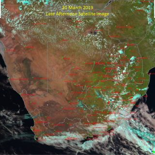 Late afternoon satellite image (20 March 2019) – Very isolated showers and thund… 54268350 985848551618468 2356030118679281664 n 320x320
