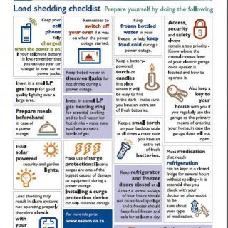 Due to current risk of #loadshedding, you can familiarise yourself with some pro… 54381432 2716253881734672 4207371343508799488 n 320x320