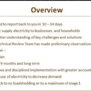 #EskomBriefing: Minister Gordhan's overview.   Accountability will be key at Esk… 55935273 2744848312208562 4992800761776701440 n 320x320