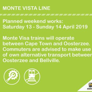 #MonteVistaLineCT Planned weekend works: Saturday 13 – Sunday 14 April 2019 #BeT… 56691361 3160184747340423 4140291590797131776 o 320x320