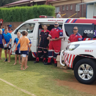 ER24 along with Heidelburg Volunteer Medics, are standing by at Laerskool  Volks… 56862373 2244016145659737 6380612159491014656 n 320x320