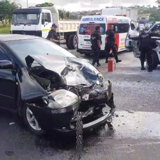 Head on Collision: Verulam – KwaZulu Natal  Six people were injured following a … 57080586 577416019411683 5550043923432341504 n 320x320