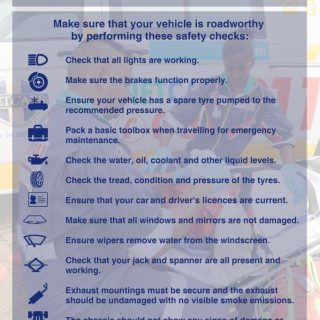 Vehicle Safety checks before travelling.  Make sure that your vehicle is roadwor… 57238882 2266599743361149 1563871903997755392 o 320x320