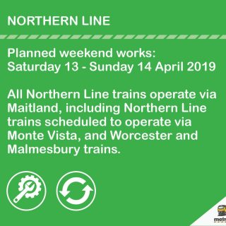 #NorthernLineCT Planned weekend works: Saturday 13 – Sunday 14 April 2019 #BeTra… 57244739 3160192800672951 4185832138353934336 o 320x320