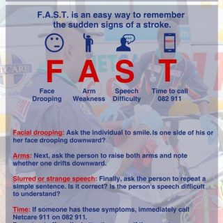 Know the signs of a stroke.  F.A.S.T is an easy way to remember the sudden signs… 58443214 2277742138913576 7968124568508301312 o 320x320