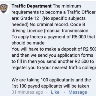 SCAM ALERT, Government does not charge any application fee for Traffic Officer t… 58652597 2191176600964452 3571327849937764352 n 320x320