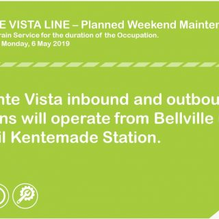 #ServiceAdvisory #MonteVistaLineCT Planned Weekend Maintenance from 3 – 6 May 20… 59163386 3212801548745409 224450395273953280 o 320x320