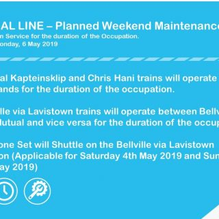#ServiceAdvisory #CentralLineCT Planned Weekend Maintenance from 3 – 6 May 2019 … 59286175 3212800395412191 1291957073516429312 o 320x320