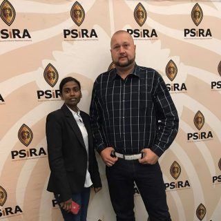 Glenda Paul and Chad Thomas from IRS attending the PSIRA stakeholders engagement… 60342247 2457860924245300 4920253421207945216 o 320x320