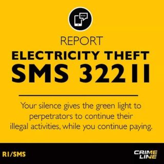 #ChooseDay: Report electricity theft anonymously to @Eskom_SA crime reporting li… 61208805 2839954729364586 4857823159572758528 n 320x320