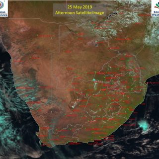 Afternoon satellite image (25 May 2019) – Partly cloudy in places over the centr… 61251202 1024350107768312 4477650006198714368 o 320x320