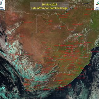 Late afternoon satellite image (30 May 2019) – Partly cloudy in the west and nor… 61478771 1027486230788033 2312704966793363456 o 320x320