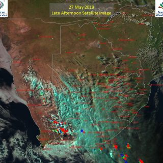 Late afternoon satellite image (27 May 2019) – Cold front over the central parts… 61628649 1025725750964081 7294324481294598144 o 320x320