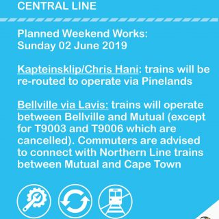 #CentralLineCT :   Planned Weekend Works – Sunday 2 June 2019 62001765 3288342547857975 3760013275148845056 o 320x320