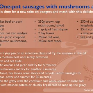 How about trying our quick sausage and mushroom recipe  for a scintillating Satu… 62122706 2859450884081637 2326833356202835968 o 320x320