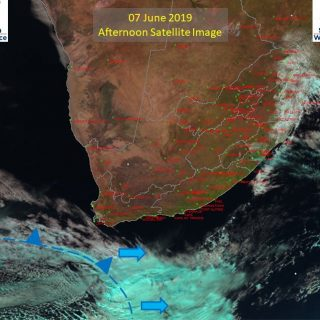 PM sat image (7 June '19) – P/c to cloudy over extreme E parts of RSA, otherwise… 62183610 1032687673601222 6843569600609648640 n 320x320