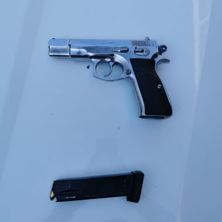 Firearm Recovered In Toilet: Verulam – KZN  The 9mm CZ 75 firearm (pictured) was… 62219555 2527202800631632 3436927706086768640 o 320x320
