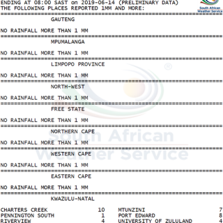 24 hour #rainfall measured at 8:00 this morning. 64769886 1037398716463451 7704150509787021312 n 320x320