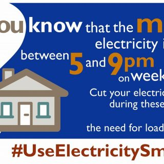 Minimise your electricity usage between 17:00 and 21:00 on weekdays to help redu… 65036887 2897750420251683 1168913793858666496 o 320x320