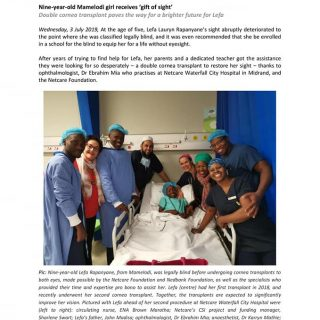 Netcare Foundation: Nine-year-old Mamelodi girl receives 'gift of sight' 66056618 2400739049947217 3557813164110249984 n 320x320