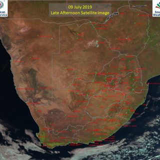 Late afternoon satellite image (9 July 2019) – Generally sunny across South Afri… 66238253 1054716214731701 3756413701712773120 o 320x320