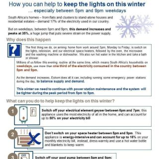 How can you help to keep the lights on this winter… especially between 5pm and… 66366451 2930452603648131 8172140746338467840 o 320x320