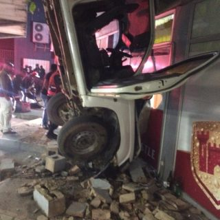 Bakkie Crashes Through Wall: Verulam – KZN  Two people were injured after a bakk… 67262783 2620423347976243 6718669159913226240 o 320x320