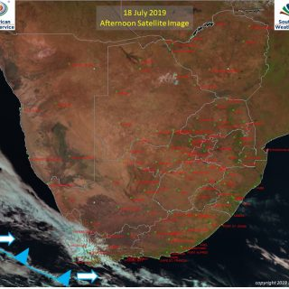 Afternoon satellite image (18 July 2019) – Cold front to the south-west of South… 67319874 1060308204172502 2478144839292551168 n 320x320