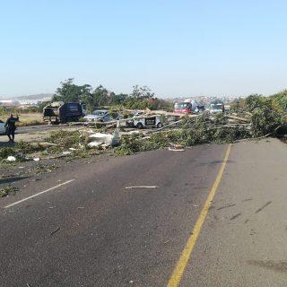 Fallen Tree Crushes Bakkie: Ottawa – KZN  Motorists travelling on the north boun… 67552047 2617521384933106 5509846078968561664 o 320x320