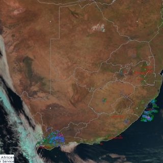 Afternoon satellite image (29 July 2019). Cold front to the south-west with rain… 67590448 1067263106810345 7409039823660384256 n 320x320
