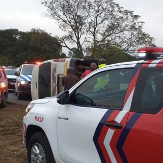 [EDENDALE] – Taxi overturns leaving five injured. – ER24 EDENDALE     Taxi overturns leaving five injured 320x320