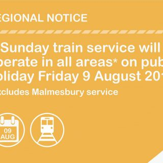 SERVICE ALERT :   A Sunday train service will operate in all areas on 9/08/2019 67878091 3483899904968904 5808680832453312512 o 320x320