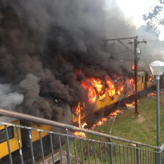 Fire and Rescue Service on scene – two carriages alight.  With the quick respons… 67924893 2304292542952891 8639476683277074432 n 320x320
