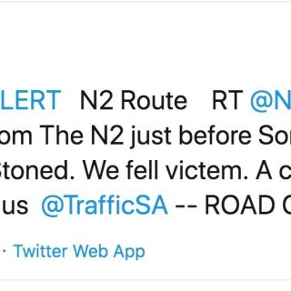 Stoning of vehicles occurring on N2. The road has been closed from Broadlands Ro… 67952262 2310081099040702 549685561107939328 o 320x320