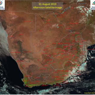 Afternoon satellite image (1 August 2019) – Partly cloudy over the south-eastern… 68408685 1069033966633259 3784323447174201344 o 320x320