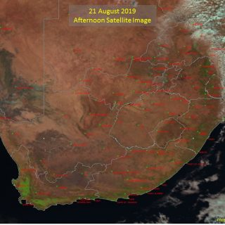Afternoon satellite image (21 August 2019) – Partly cloudy over the extreme east… 69019123 1081665198703469 6907560563165888512 o 320x320