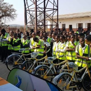Transport Minister Fikile Mbalula hand over 452 bicycles to learners from 10 sch… 69293802 2397509403664503 7663712267413749760 n 320x320